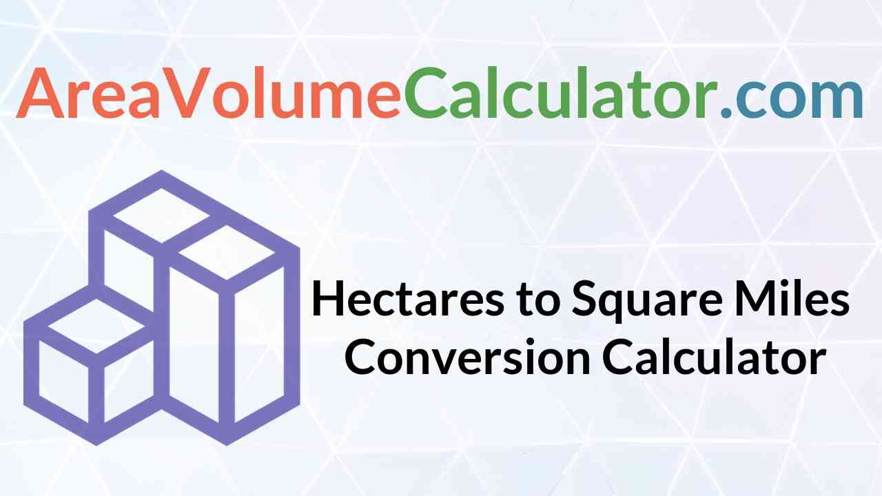 Square Miles Conversion Calculator
