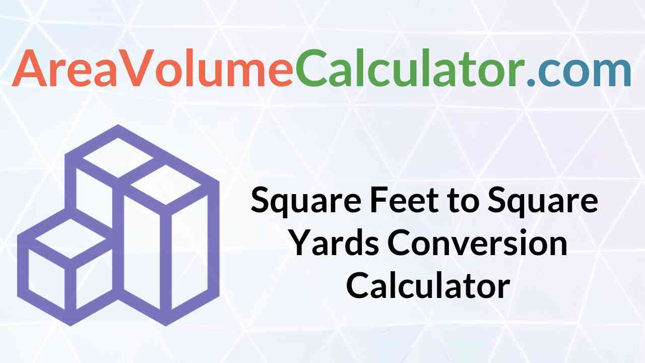 Square Yards Conversion Calculator