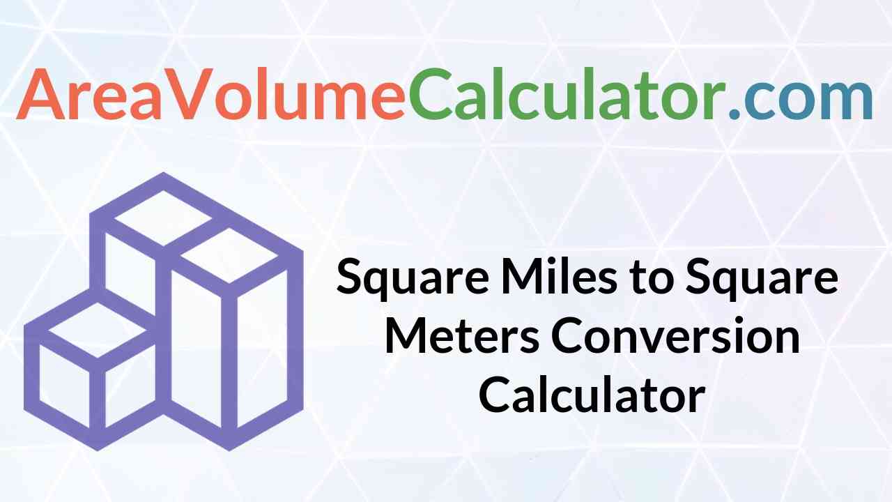 Square Meters Conversion Calculator