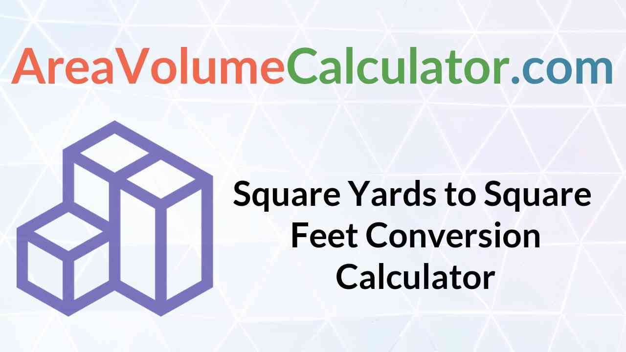 Square Feet Conversion Calculator