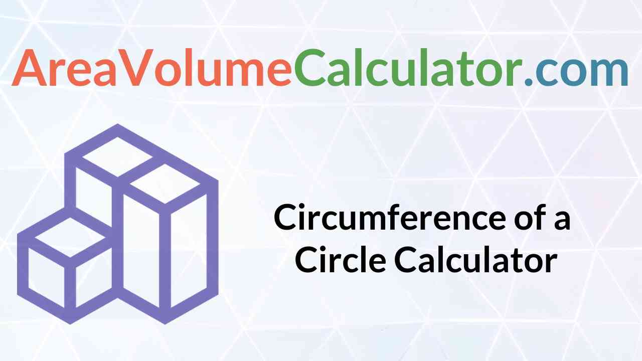 Circumference of a Circle Calculator