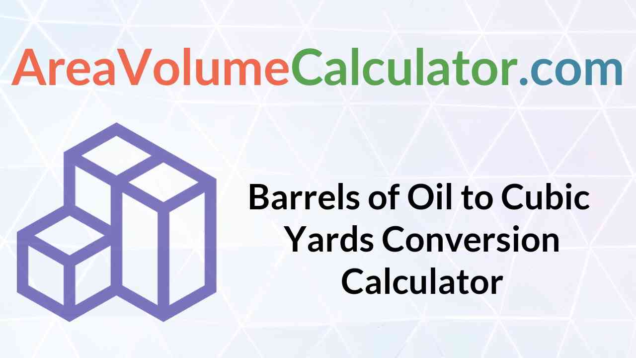 Cubic Yards Conversion Calculator