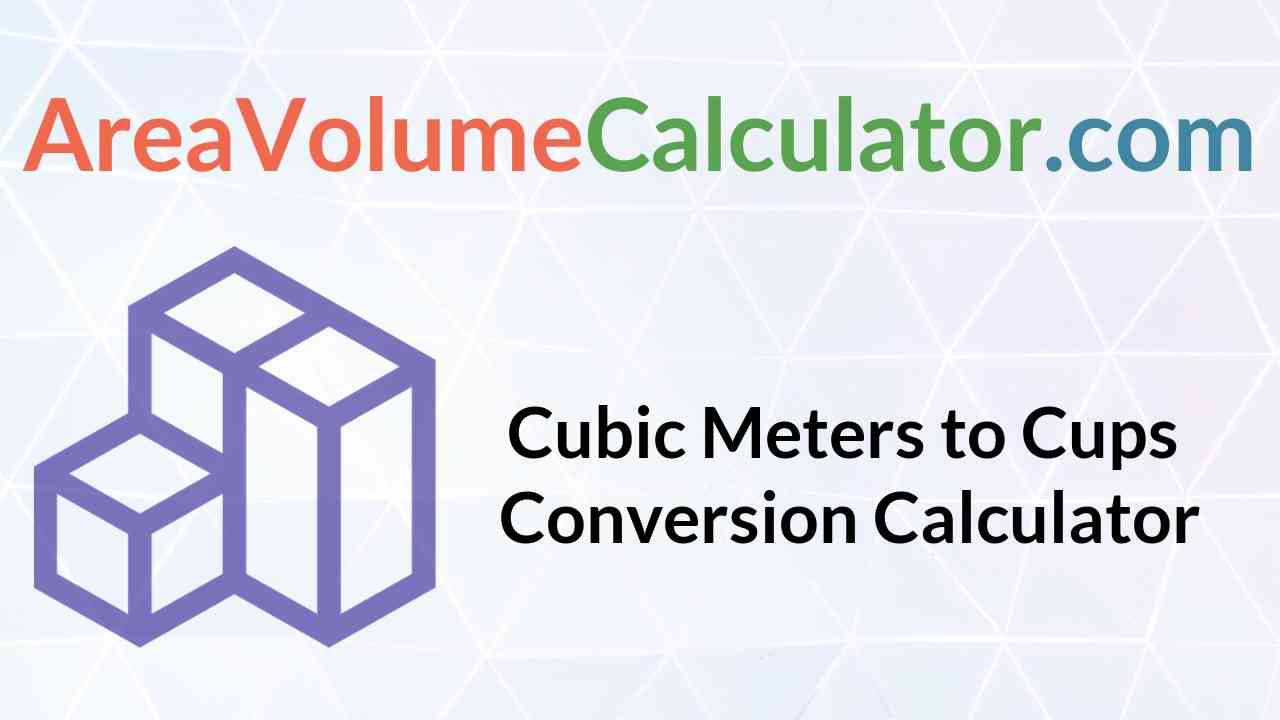 Cups Conversion Calculator