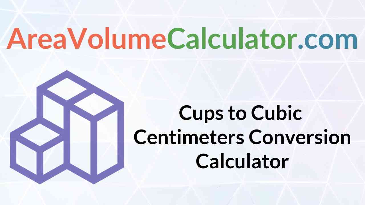 Cubic Centimeters Conversion Calculator