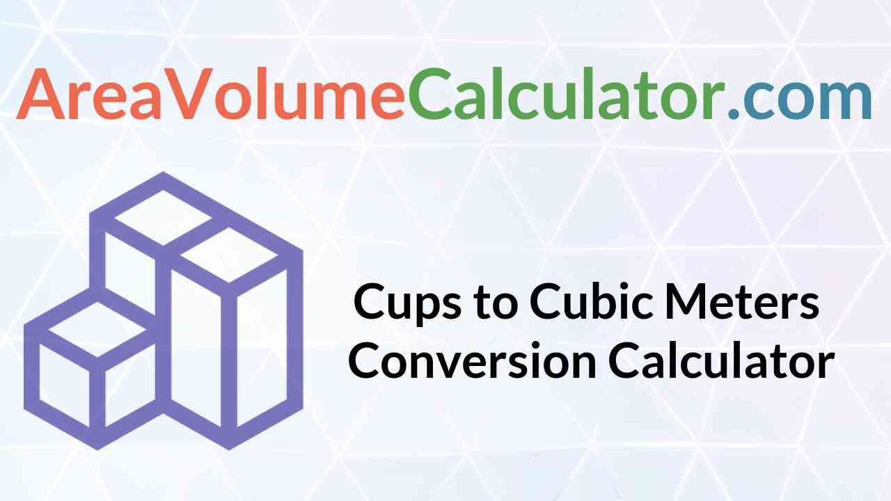 Cubic Meters Conversion Calculator