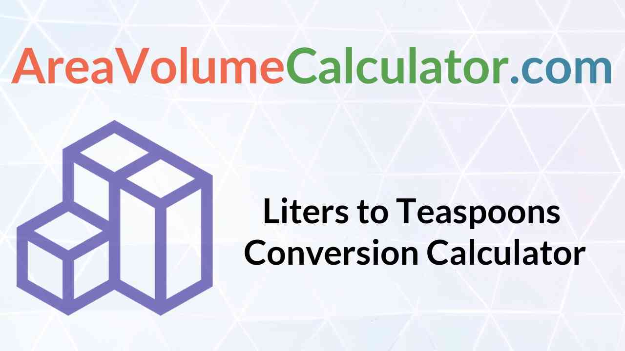Teaspoons Conversion Calculator