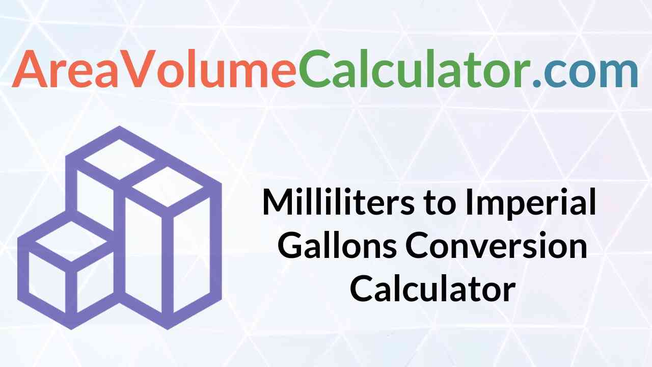 Imperial Gallons Conversion Calculator