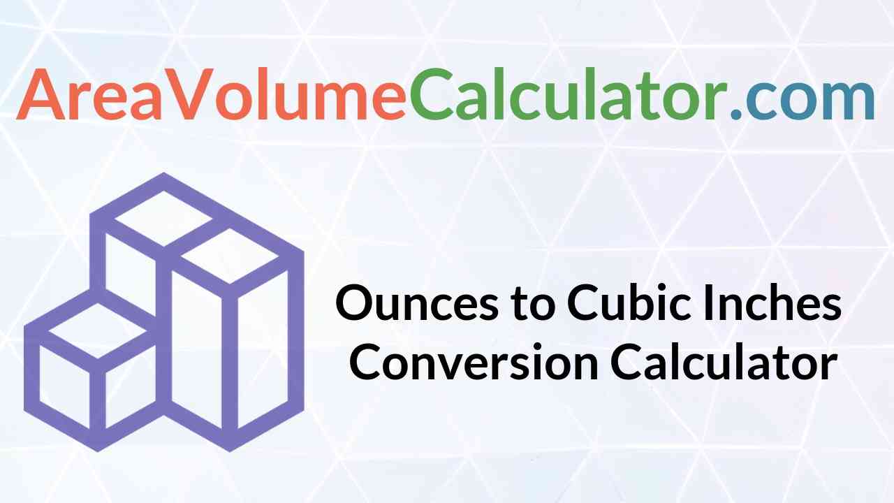Cubic Inches Conversion Calculator